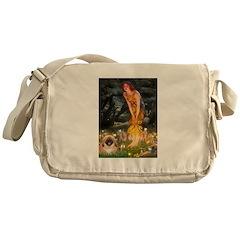 Fairies / Pekingese(r&w) Messenger Bag