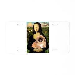 Mona / Pekingese(r&w) Aluminum License Plate