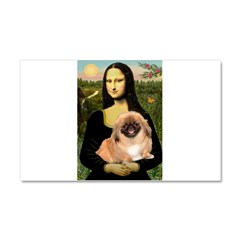 Mona / Pekingese(r&w) Car Magnet 20 x 12