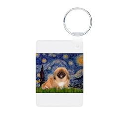 Starry / Pekingese(r&w) Keychains