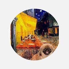 "Cafe /Pekingese (r) 3.5"" Button"