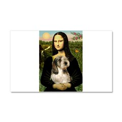 Mona Lisa / PBGV Car Magnet 20 x 12