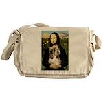 Mona Lisa / PBGV Messenger Bag