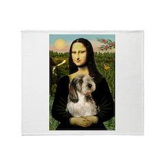 Mona Lisa / PBGV Throw Blanket