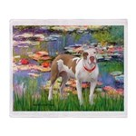 Lilies & Pitbull Throw Blanket