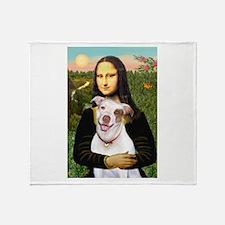Mona's Pitbull Throw Blanket