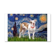 Starry Night Pitbull Car Magnet 20 x 12