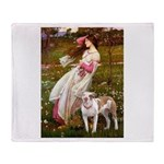 Windflowers / Pitbull Throw Blanket