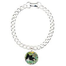 Irises / Pomeranian(bb) Charm Bracelet, One Charm