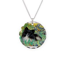 Irises / Pomeranian(bb) Necklace