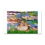 Lilies2/Pomeranian #4 Car Magnet 20 x 12