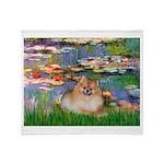 Lilies2/Pomeranian #4 Throw Blanket