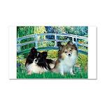 Bridge / 2 Pomeranians Car Magnet 20 x 12