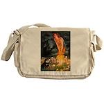 Fairies / Pomeranian (b&t) Messenger Bag