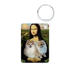 Mona/2 Pomeranians Keychains