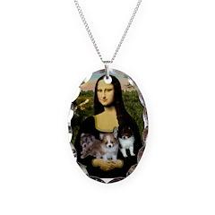 Mona Lisa/Pomeranians Necklace