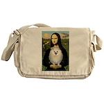 Mona / Pomeranian(w) Messenger Bag