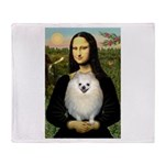 Mona / Pomeranian(w) Throw Blanket