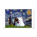 Starry/Pomeranian(r&w) Car Magnet 20 x 12