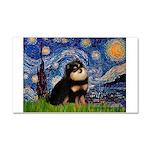 Starry Night / Pomeranian(b&t) Car Magnet 20 x 12