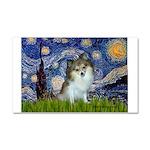 Starry Night /Pomeranian (p) Car Magnet 20 x 12