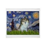 Starry Night /Pomeranian (p) Throw Blanket