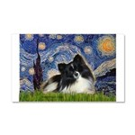 Starry Night / Pomeranian (b&w) Car Magnet 20 x 12