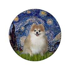 "Starry / Pomeranian 3.5"" Button"
