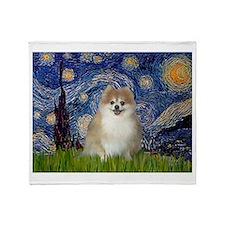 Starry / Pomeranian Throw Blanket