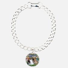 Lilies / 2 Pomeranians Bracelet