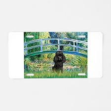Bridge / Poodle (Black) Aluminum License Plate
