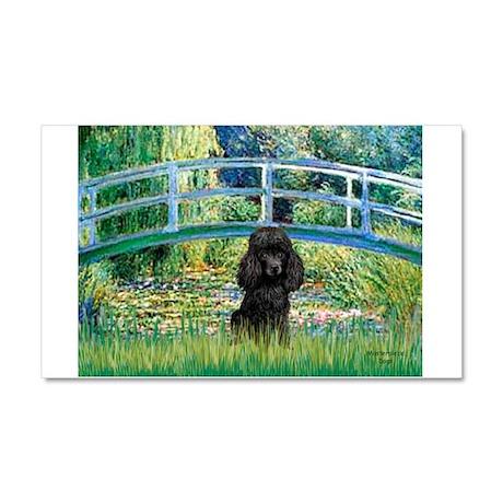 Bridge / Poodle (Black) Car Magnet 20 x 12