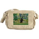 Bridge / Poodle (Black) Messenger Bag