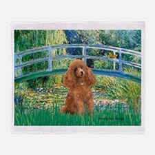 Lily Pond Bridge/Poodle (apri Throw Blanket