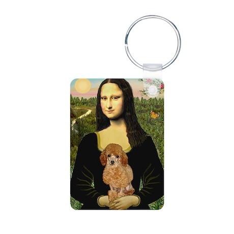 Mona / Poodle (a) Aluminum Photo Keychain