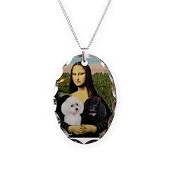 Mona & 2 Poodles Necklace