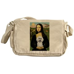 Mona Lisa / Poodle(w) Messenger Bag