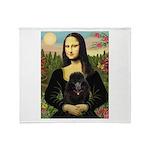 Mona / Poodle (bl) Throw Blanket