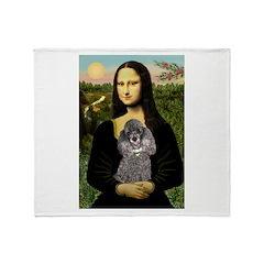 Mona / Poodle (s) Throw Blanket