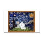 Starry Night / Poodle(w) Car Magnet 20 x 12