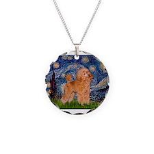 Starry / Poodle (Apricot) Necklace