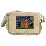 Starry / Poodle (Apricot) Messenger Bag