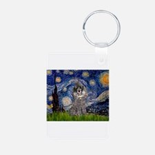 Starry Night / Poodle (s) Keychains