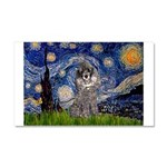 Starry Night / Poodle (s) Car Magnet 20 x 12