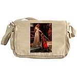 Accolade / Poodle (Silver) Messenger Bag
