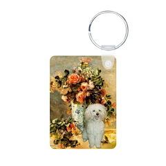 Vase / Poodle (White) Keychains