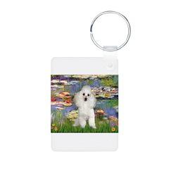 Lilies /Poodle (w) Keychains