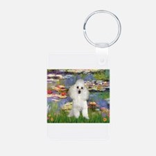 Lilies /Poodle (w) Keychains