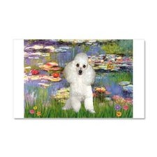 Lilies /Poodle (w) Car Magnet 20 x 12