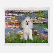 Lilies /Poodle (w) Throw Blanket